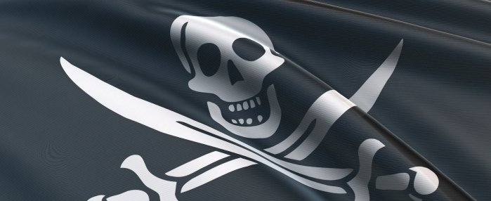 Piratenfahne und Piratenflagge